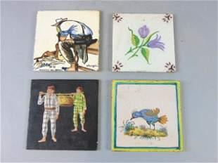 Lot of Vintage Antique Ceramic Accent Tiles