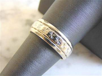 Vintage Estate 14K White Gold Band Wedding Ring
