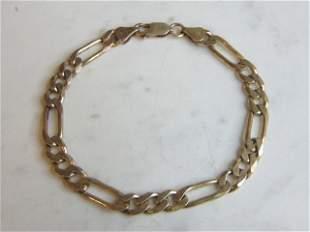 Womens Sterling Silver Italian Chain Link Bracelet