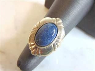 Womens Vintage Estate Sterling Silver Lapis Lazuli Ring