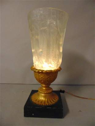 ANTIQUE JOSEPH INWALD BAROLAC FOREST LAMP VASE
