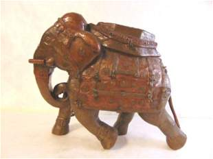 ANTIQUE HAND HAMMERED HINDU ELEPHANT STATUE