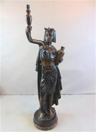 Queen Nefertiti Of Egypt Cold Painted Bronze Statue