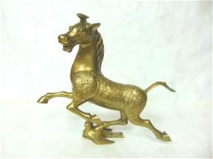 VINTAGE ANTIQUE CHINESE BRONZE HORSE STATUE