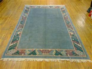 HAND MADE INDO NEPALESE MODERNIST AREA RUG