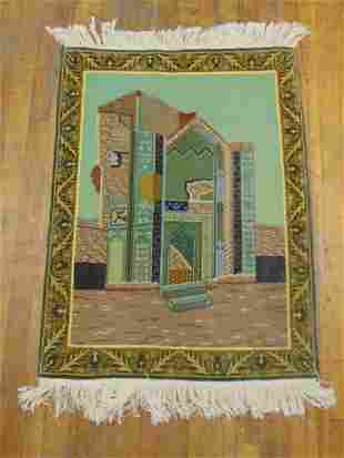 "HIGH QUALITY PERSIAN TABRIZ AREA RUG 3'2"" X 2'4"""