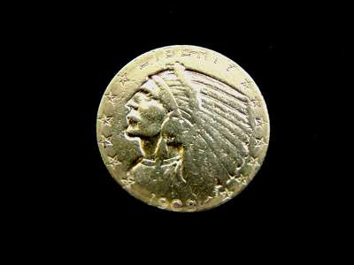 Antique Estate Find 1909 U.S. $5 Gold Indian Head Coin