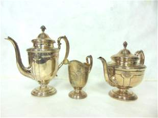 ANTIQUE STERLING SILVER TOWLE LOUIS XIV TEA SET 2072g