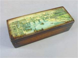 Italian Mottahedeh Wooden Postage Stamp Box