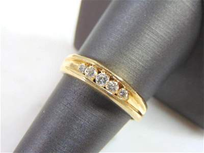 Womens Vintage Estate 14K Gold W/ 1/2 ct Diamond Ring