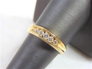 Womens Vintage Estate 14K Gold W/ 1/2 ct Diamond Ring