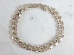Vintage Estate Sterling Silver Chain Link Bracelet