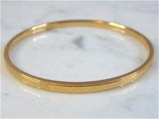 Womens Vintage Estate 18K Yellow Gold Bracelet