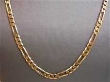 Mens Vintage 14K Gold Italian Chain Link Necklace