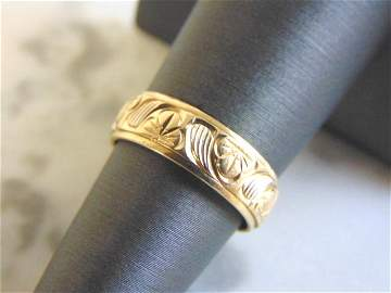 Vintage Estate 14K Yellow Gold Band Wedding Ring