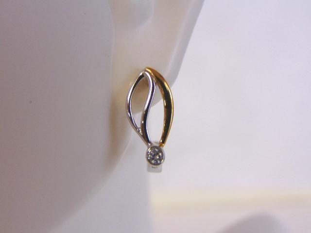 Womens Vintage Sterling Silver Earrings w/ CZ Stones