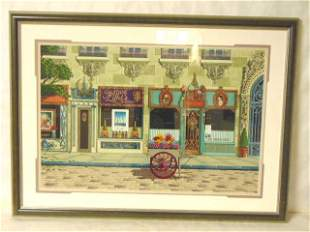 LIMITED DAVID FARRELL FRENCH STORE FRONT RUSSIAN LITHO