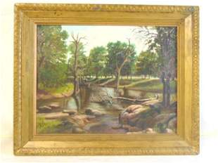 BEAUTIFUL VINTAGE ANTIQUE NATURE PAINTING SIGNED