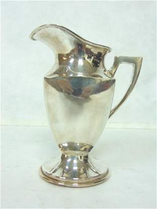 ANTIQUE COLLECTIBLE STERLING SILVER CREAMER PITCHER