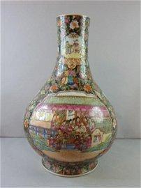 Vintage Antique Chinese Famille Rose Floor Vase