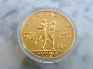 ESTATE FIND 1984 U.S. OLYMPIC $10 GOLD COIN