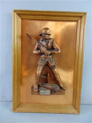 Vintage Firefighter Ladderman Copper Friedling