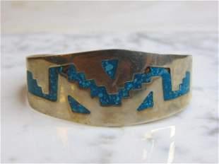 Vintage Sterling Silver Southwestern Design Bracelet