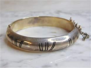 Womens Vintage Sterling Silver Modernist Bracelet