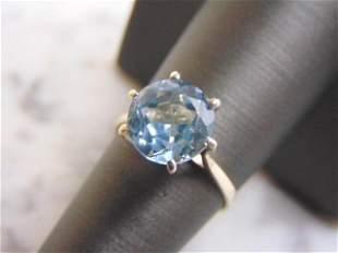 Womens Vintage Estate Sterling Silver Topaz Ring
