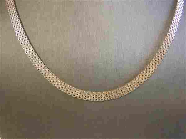 Women's Vintage Estate Sterling Silver Mesh Necklace