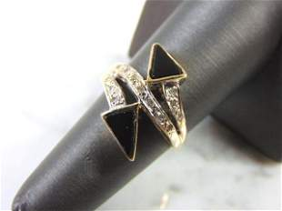 Womens Art Deco 14k Yellow Gold Diamond Ring