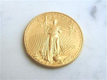ESTATE FIND 2002 $50 GOLD AMERICAN EAGLE COIN