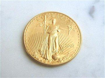 ESTATE FIND 2002 $50 GOLD AMERICAN EAGLE COIN