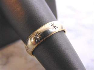 Womens Vintage Estate 14k Yellow and White Gold Ring