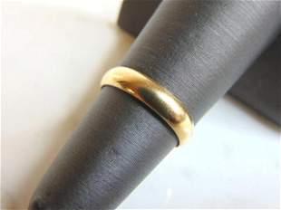 Womens Vintage Estate 14K Yellow Gold Wedding Band Ring