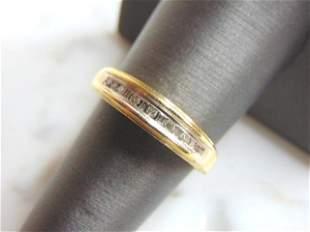 Womens Vintage Estate 10k Gold I Love You Diamond Ring