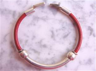 Vintage Sterling Silver Bangle Bracelet With Clasp