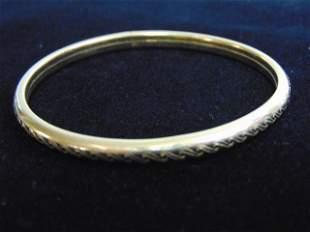 Womens Vintage Estate 14k Gold Bangle Bracelet
