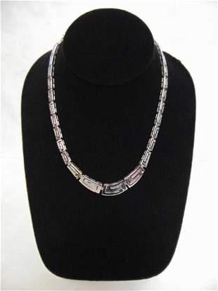 Womens Vintage Estate Sterling Silver .925 Necklace