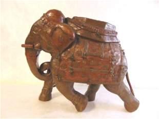 ANTIQUE HAND HAMMERED HINDU ELEPHANT STATUE