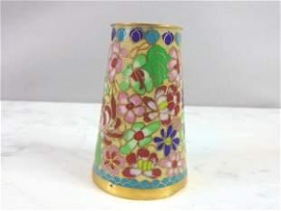Vintage Chinese Floral Cloisonne Bud Vase