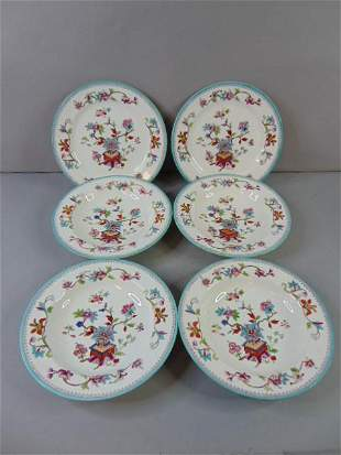 Lot of Antique Royal Worcester Chinoiserie Plate Bowl