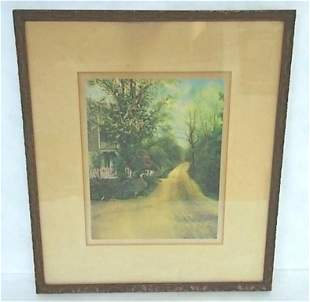 ANTIQUE LISTED ARTIST PROOF HAND COLORED PHOTO BY TROTH