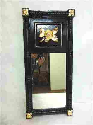 Antique Wall Mirror w/ Floral Gold Leaf