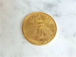Mint 2002 U.S. $25 1/2 Oz Gold Eagle Coin