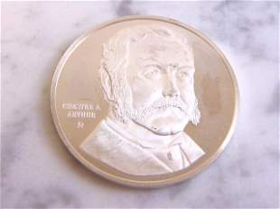 COLLECTIBLE CHESTER ARTHUR STERLING COIN MEDAL