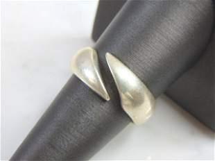 Vintage Estate .925 Sterling Silver Modernist Ring
