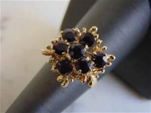 Womens Vintage Estate 14k Yellow Gold Ruby ? Ring