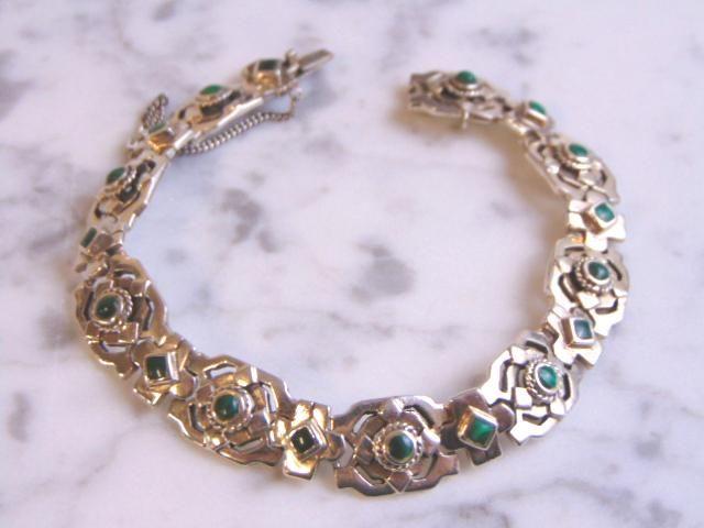 Womens Vintage Sterling Silver Marcasite Bracelet