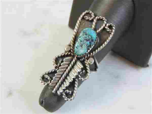 Vintage Estate Sterling Silver Ring W/ Southwestern